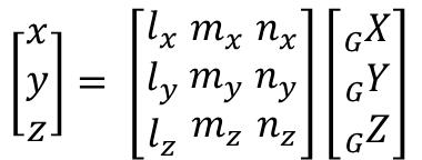 方向余弦による座標変換
